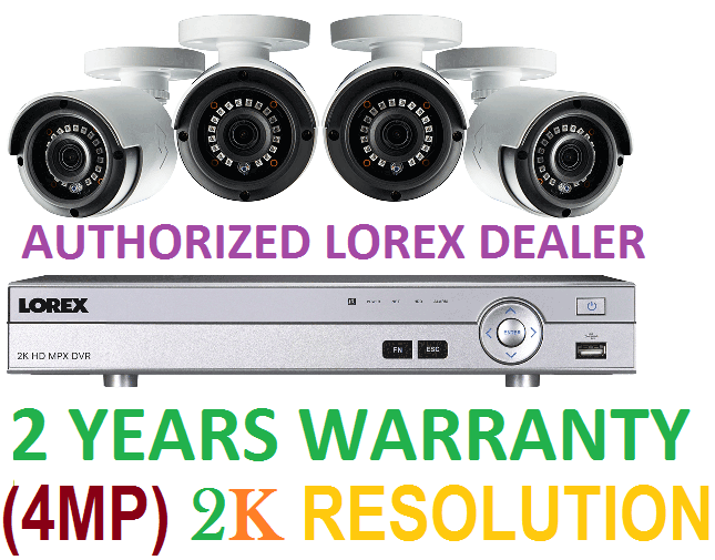 Lorex 4 Camera 4MP 2K 1TB HD Security System Color NIGHTVISION